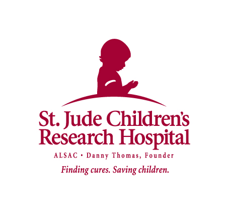 St. Jude Prefered Logo with Tagline - RED